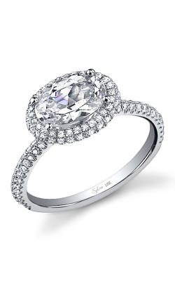 Sylvie Halo Engagement ring SY630-049A4W86O product image