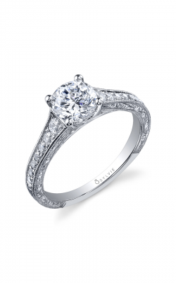 Sylvie Sidestone Engagement Ring SY886-028A4W10R product image