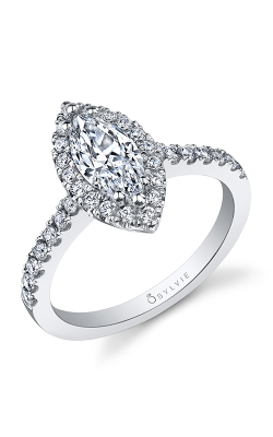 Sylvie Halo Engagement ring SY999-44APL105M product image