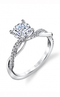 Sylvie Sidestone Engagement ring S1524-014APL10R product image