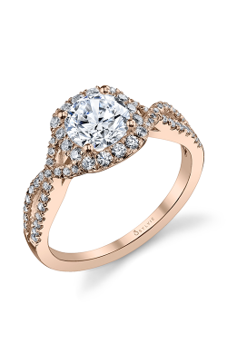 Sylvie Halo Engagement ring S1078-45A4W10RC product image