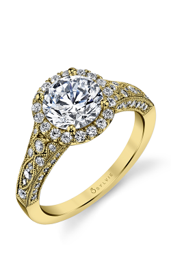 Sylvie Halo Engagement ring S1409-076A4W15R product image