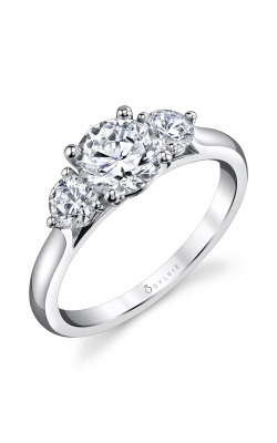 Sylvie Three Stone Engagement ring S3000S-47A4W10R product image