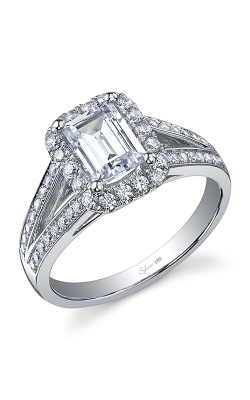 Sylvie Halo Engagement ring SY827-050A4W75E product image