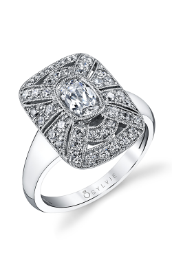 Sylvie Sidestone Engagement ring S1228-057A4W07C product image