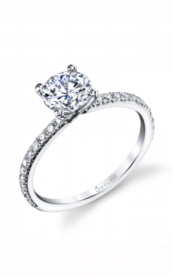 Sylvie Sidestone Engagement ring S1497-024APL10R product image