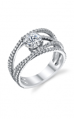 Sylvie Sidestone Engagement ring S1137-077A4W10R product image