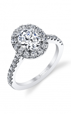 Sylvie Halo Engagement Ring S1199-073A4W15O product image