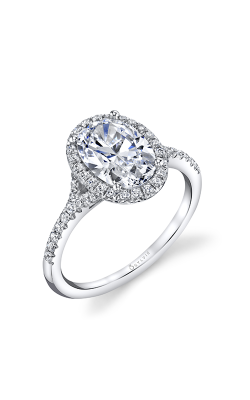 Sylvie Halo Engagement Ring S1814-028SCZ20O product image