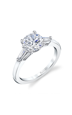 Sylvie Three Stone Engagement ring S3012S-34A4W15O product image