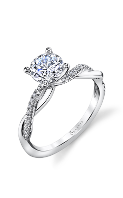 Sylvie Sidestone Engagement Ring S1524-014A4K10R product image