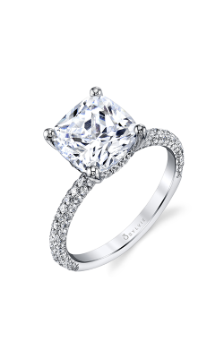 Sylvie Sidestone Engagement Ring S1633-069A4W40C product image