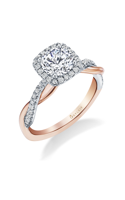 Sylvie Halo Engagement ring S1724-023A4K10RC product image