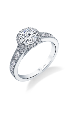 Sylvie Halo Engagement ring S1789-040A8W10RR product image