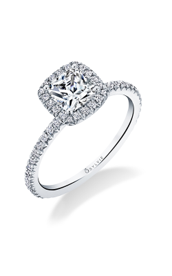 Sylvie Halo Engagement ring S1793-031A8W10CC product image