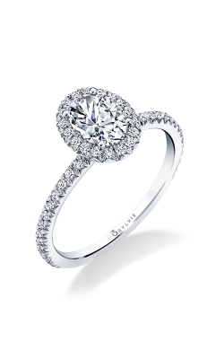 Sylvie Halo Engagement Ring S1793-032A8W10O product image