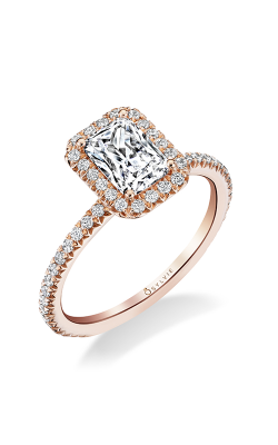 Sylvie Halo Engagement ring S1793-033A4R10E product image