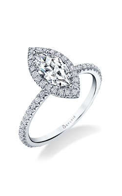 Sylvie Halo Engagement Ring S1793-034A4W10M product image