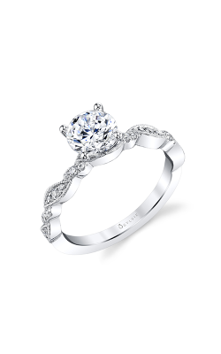 Sylvie Sidestone Engagement Ring S1859-014A4W10R product image
