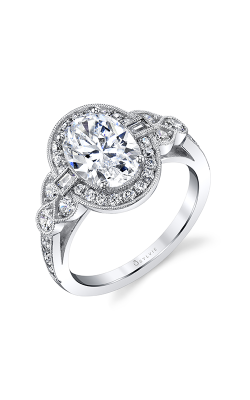Sylvie Halo Engagement ring S1873-073A8W20O product image