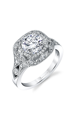 Sylvie Halo Engagement ring S1911-38A8W10RCH product image