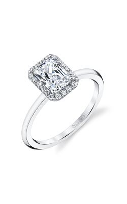 Sylvie Halo Engagement ring S1993-012A8W10E product image