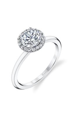 Sylvie Halo Engagement Ring S1993-012A4W10RR product image