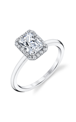 Sylvie Halo Engagement ring S1993-012A8W10C product image