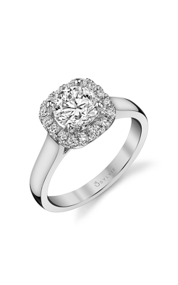 Sylvie Halo Engagement Ring SY756-28A4W12RC product image