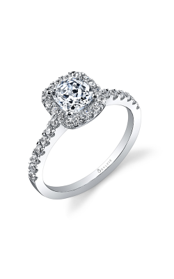 Sylvie Halo Engagement Ring SY999-039APL10C product image