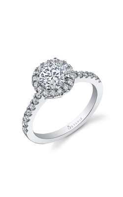 Sylvie Halo Engagement ring SY999-041A8W10R product image