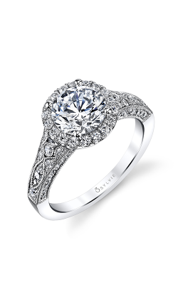 Sylvie Halo Engagement ring S1409-073A8W15O product image