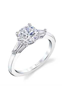 Sylvie Three Stone Engagement ring S3012S-34A8W15R product image