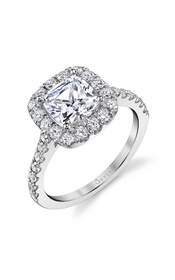 Sylvie Halo Engagement ring S1199-072A8W10RC product image