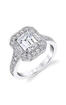 Sylvie Halo Engagement ring S1387-88A8W20EE product image