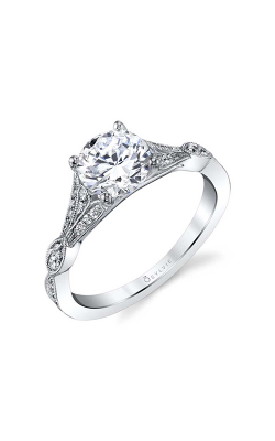 Sylvie Sidestone Engagement Ring S1803-024A4W12R product image