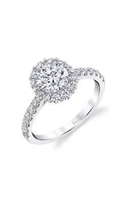 Sylvie Halo Engagement ring S1848-062A4W10ROH product image