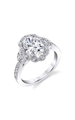 Sylvie Halo Engagement ring S1876-031A8W20OF product image