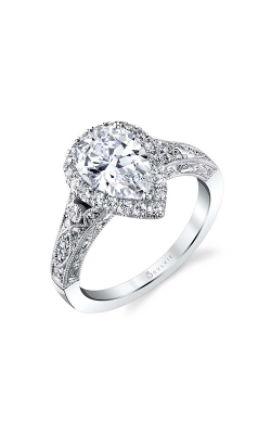 Sylvie Halo Engagement ring S1909-047A8W20T product image