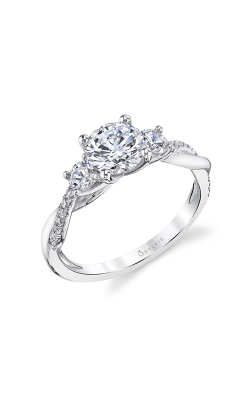 Sylvie Three Stone Engagement ring S1939S-048A8W10R product image