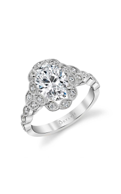 Sylvie Halo Engagement Ring S1976-029A4W20OF product image
