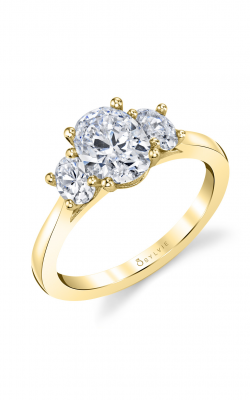 Sylvie Three Stone Engagement ring S3022S-50A4Y12O product image