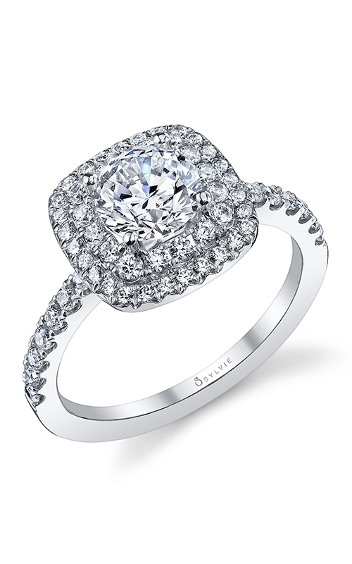 Sylvie Halo Engagement Ring S1097-055A8W10R product image