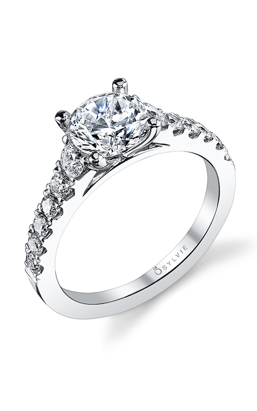Sylvie Sidestone Engagement Ring S1127-060A8W10R product image