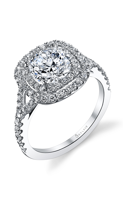 Sylvie Halo Engagement ring S1128-63A8W10RCH product image