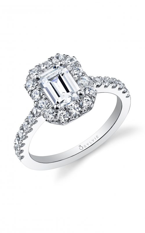 Sylvie Halo Engagement ring S1199-073A8W12E product image