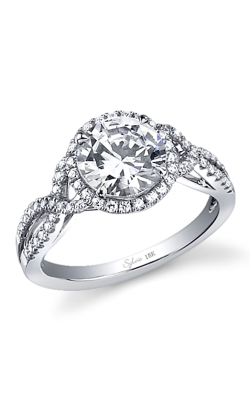 Sylvie Halo Engagement Ring SY260-0036/A8W product image