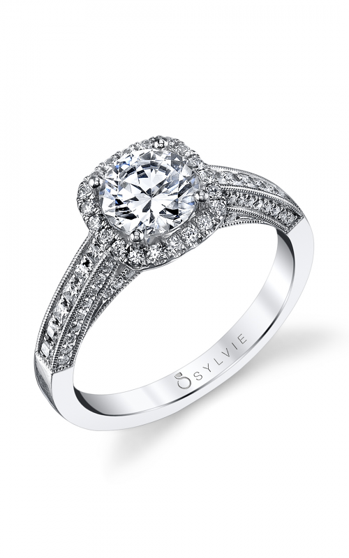 Sylvie Halo Engagement ring SY652-0043/A8W product image