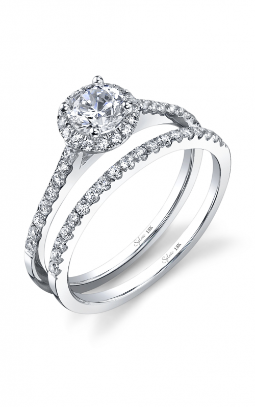 Sylvie Halo Engagement Ring SY696-0022/A8W product image
