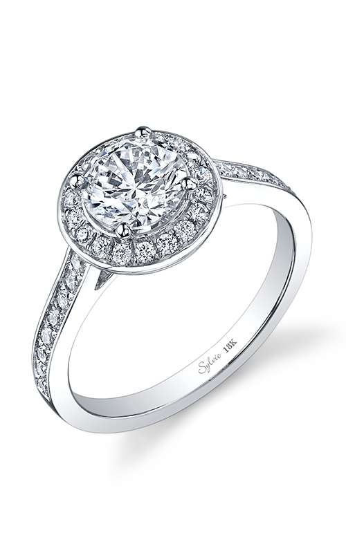 Sylvie Halo Engagement ring SY865-036A8W10R product image